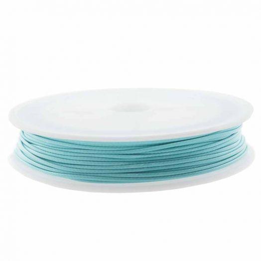Waxkoord Polyester (1 mm) Aqua Blue (15 Meter)