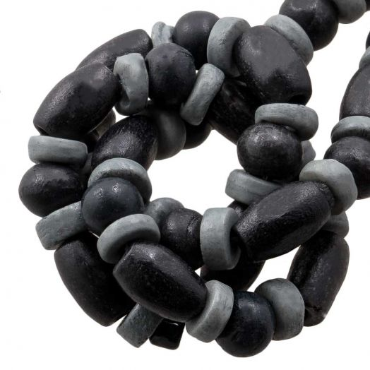 Kralenmix - Bone Kralen (6 x 3 mm) Grey (68 stuks)