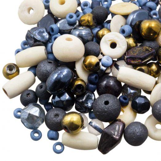Kralenmix - Divers (Diverse Maten) Cobalt Blue (50 Gram)