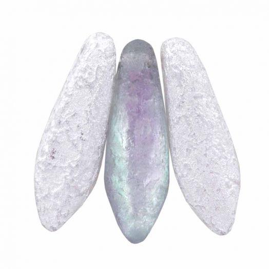 Dagger Glaskralen (5 x 16 mm) Crystal Etched Vitrail Light (25 stuks)