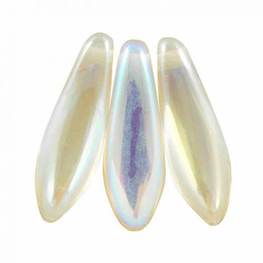 Dagger Glaskralen (5 x 16 mm) Crystal Lemon Rainbow (25 stuks)