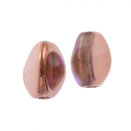 Pinch Beads (5 x 3 mm) Crystal Copper Rainbow (5 gram / circa 64 stuks)