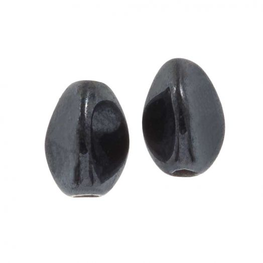 Pinch Beads (5 x 3 mm) Jet Hematite (5 gram / circa 64 stuks)