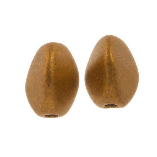 Pinch Beads (5 x 3 mm) Brass Gold (5 gram / circa 64 stuks)