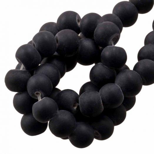 Glaskralen Mat (6 -7 mm) Black (35 Stuks)