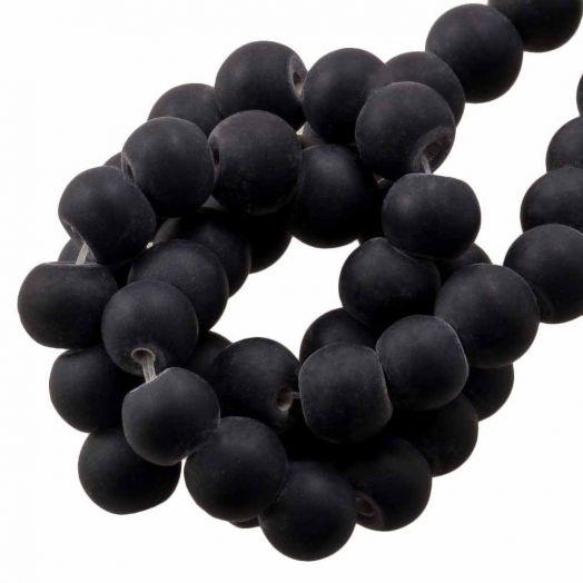 Glaskralen Mat (8 - 9 mm) Black (28 Stuks)