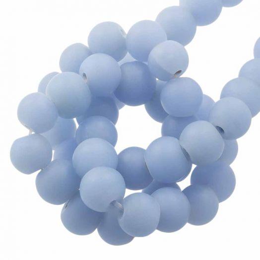 Glaskralen Mat (8 - 9 mm) Sky Blue (28 Stuks)