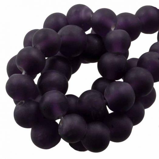 Glaskralen Mat (8 - 9 mm) Eggplant (28 Stuks)