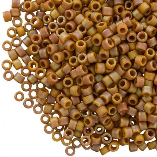 Miyuki Delica (11/0 mm) Matted OPQ Glazed Honey Bee AB (10 Gram)
