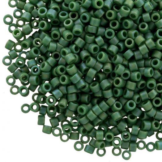 Miyuki Delica (11/0 mm) Matted Opq Glazed Turtle Green AB (10 Gram)