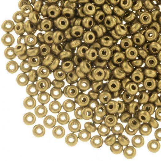 DQ Rocailles (2 mm) Antique Gold (10 Gram / 1000 stuks)