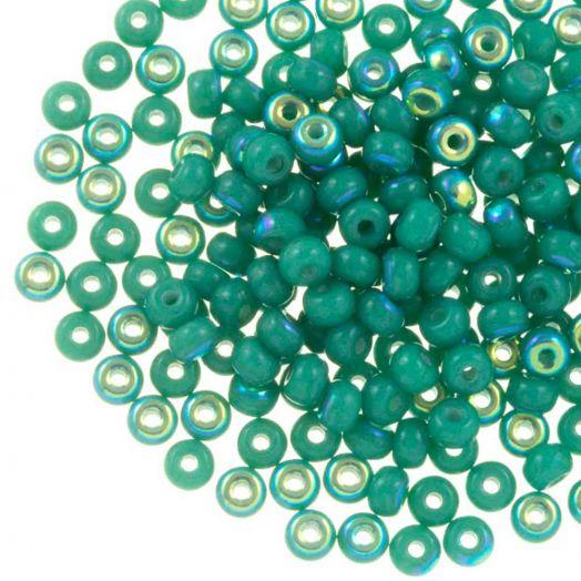 DQ Rocailles (3 mm) Aqua Green AB (25 Gram / 600 stuks)
