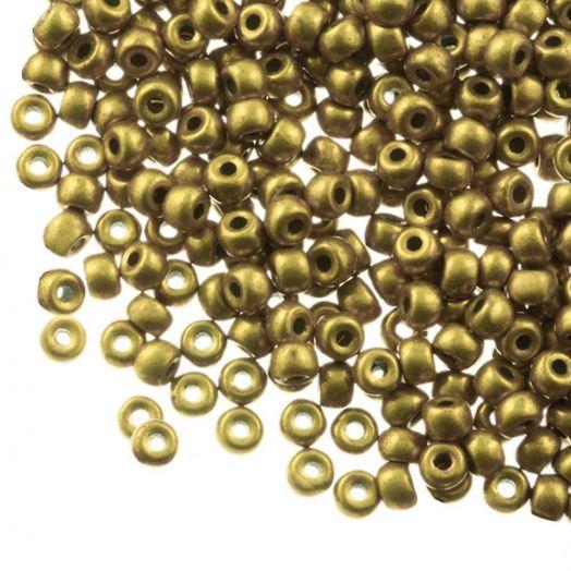 DQ Rocailles (4 mm) Antique Gold (25 Gram / 350 stuks)