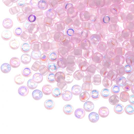 DQ Rocailles (3 mm) Pink AB (25 Gram / 600 stuks)