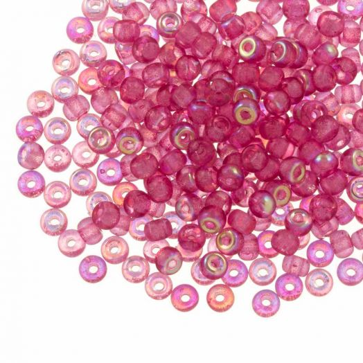 DQ Rocailles (4 mm) Candy Pink AB (25 Gram / 350 stuks)