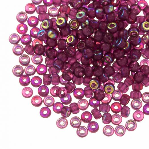 DQ Rocailles (4 mm) Mulberry Purple AB (25 Gram / 350 stuks)