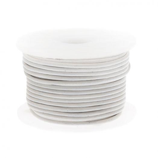 DQ Leer Regular (1 mm) White (10 Meter)