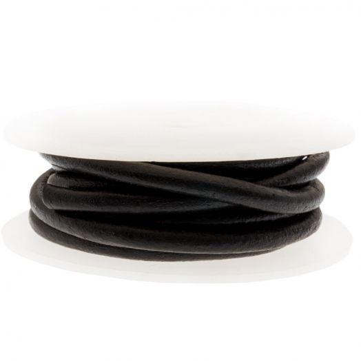 DQ leer Regular (5 mm) Black (2.5 Meter)