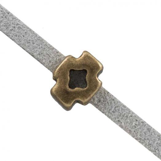 Schuiver Kruis (Binnenmaat 3 x 2 mm) Brons (10 Stuks)