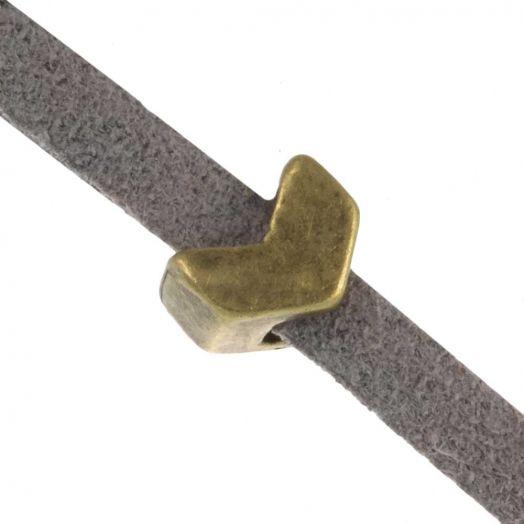 Schuiver Pijl (Binnenmaat 3 x 2 mm) Brons (10 Stuks)