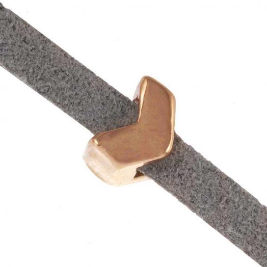 Schuiver Pijl (Binnenmaat 3 x 2 mm) Goud (10 Stuks)