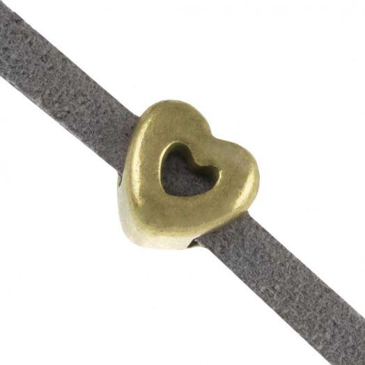 Schuiver Hartje (Binnenmaat 3 x 2 mm) Brons (10 Stuks)