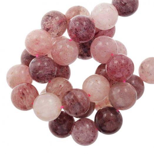 Strawberry Quartz Kralen (12 mm) 33 Stuks