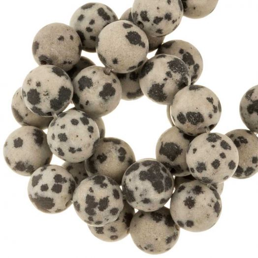 Dalmatian Jasper Frosted Kralen (6 mm) 60 Stuks