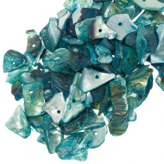 Schelp Kralen (18 - 5 mm) Light Sea Green (25 gram / ca. 70 Stuks)