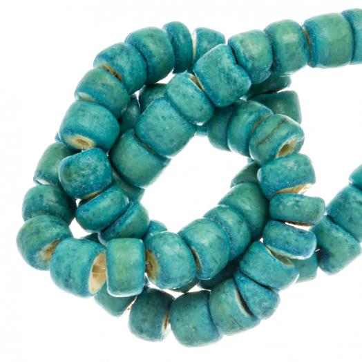 Kokos Kralen (4 - 5 mm) Turquoise (110 Stuks)