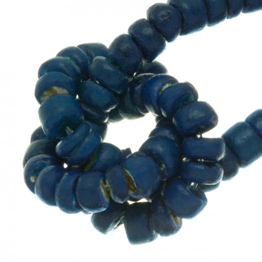 Kokos Kralen (4 - 5 mm) Deep water Blue (110 Stuks)