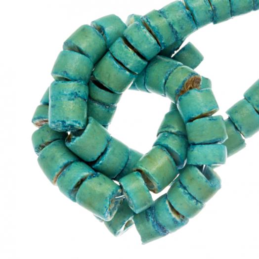 Kokos Kralen (4 - 5 mm) Turquoise (120 Stuks)