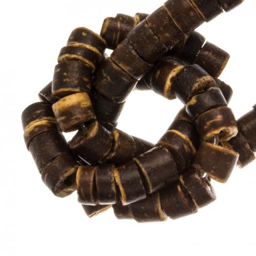 Kokos Kralen (4 - 5 mm) Natural Brown (120 Stuks)