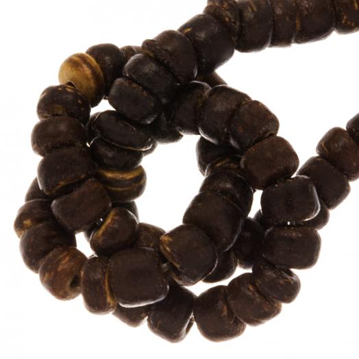 Kokos Kralen (4 - 5 mm) Natural Brown (110 Stuks)