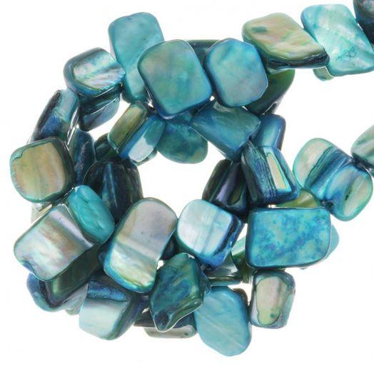Schelp Kralen (8 x 8 mm) Turquoise (48 Stuks)