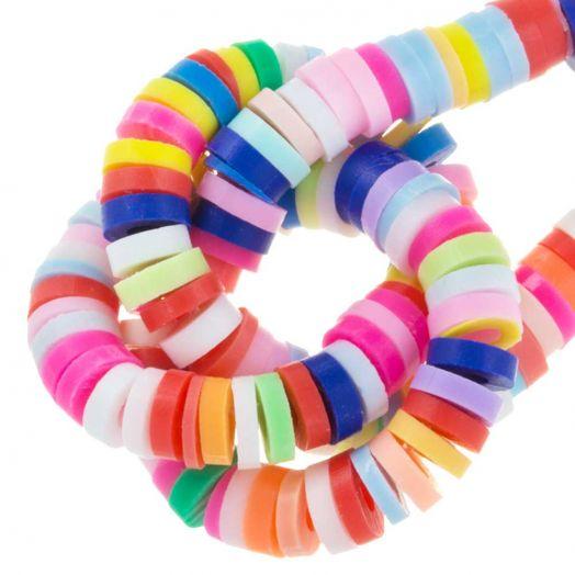Polymeer Kralen (4 x 1 mm) Mix Color (350 Stuks)