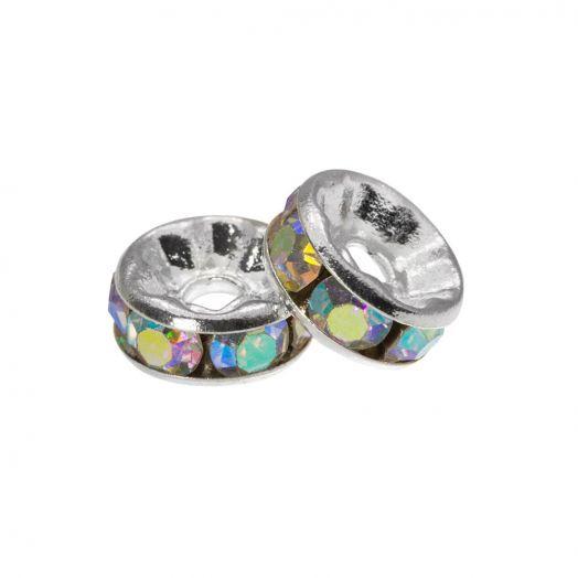 Rhinestone Spacers (4 x 2 mm) Crystal Shine (10 Stuks)