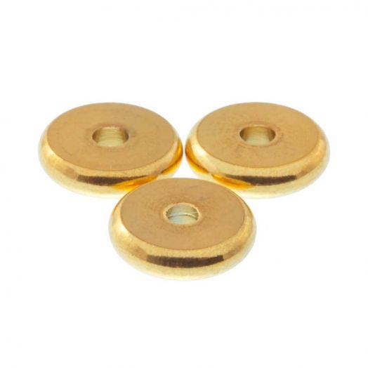Stainless Steel Kralen (8 mm) Goud (10 Stuks)