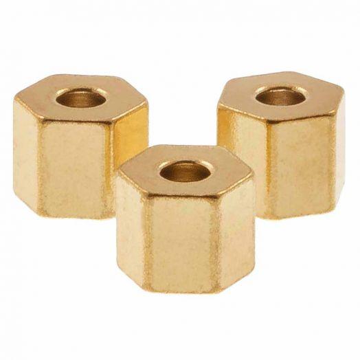 Stainless Steel Kralen (4.5 x 4 mm) Goud (10 Stuks)