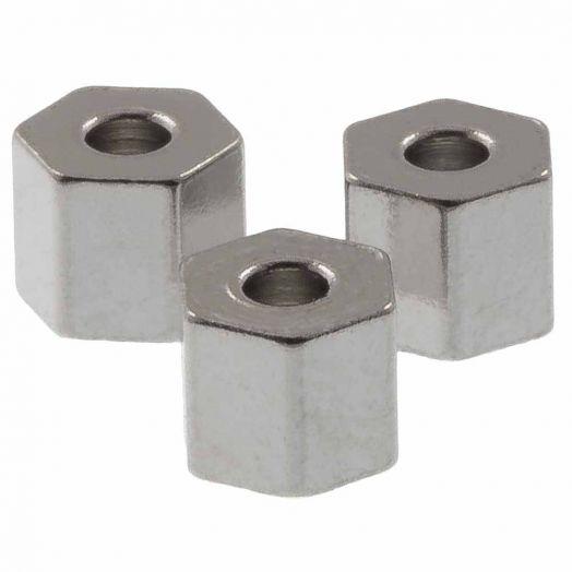 Stainless Steel Kralen (4.5 x 4 mm) Antiek Zilver (10 Stuks)
