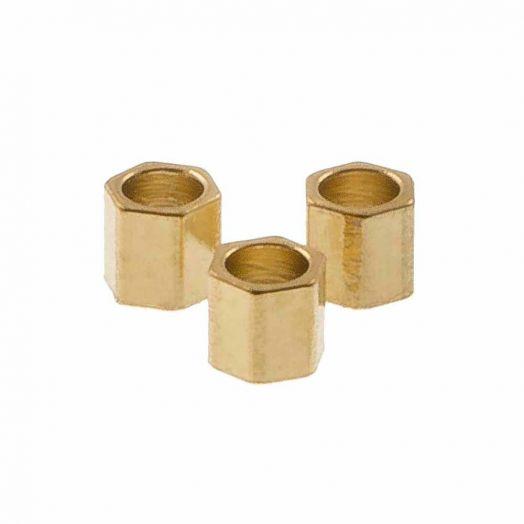 Stainless Steel Kralen (2 x 2 mm) Goud (10 Stuks)