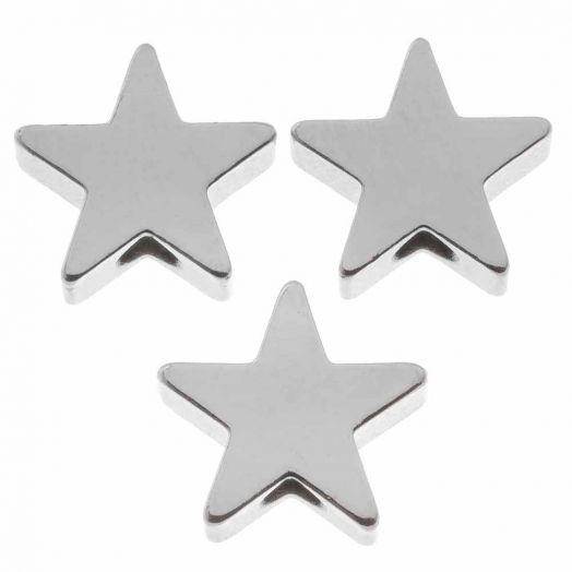 Metalen Kralen Ster (8 mm) Antiek Zilver (10 Stuks)