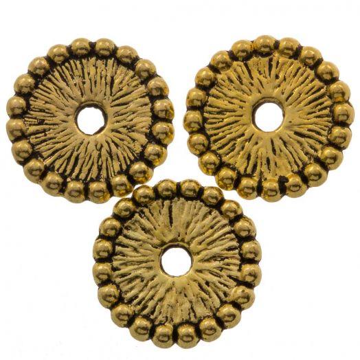 Metalen Kralen (12 x 12 mm) Antiek Goud (15 Stuks)