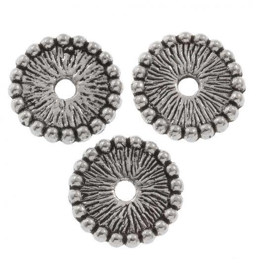 Metalen Kralen (12 mm) Antiek Zilver (25 Stuks)