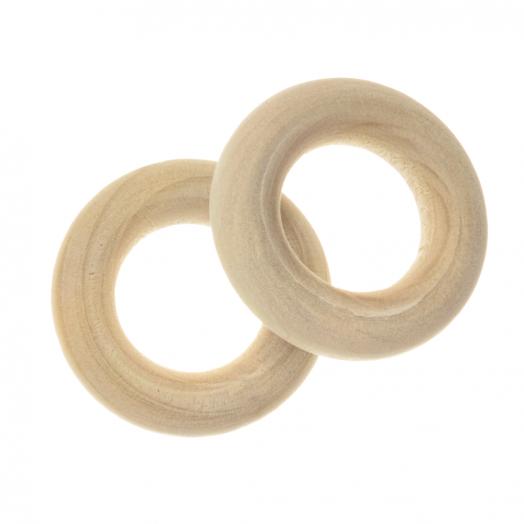 Blanke Houten Ring (24 x 6 mm, gat 12 mm) 20 stuks