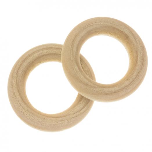 Blanke Houten Ring (30 x 6 mm, gat 17 mm) 20 stuks