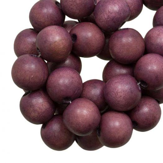Houten Kralen Vintage Look (10 mm) Boysenberry (86 stuks)