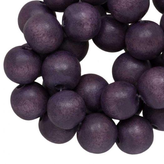 Houten Kralen Vintage Look (10 mm) Dark Purple (86 stuks)