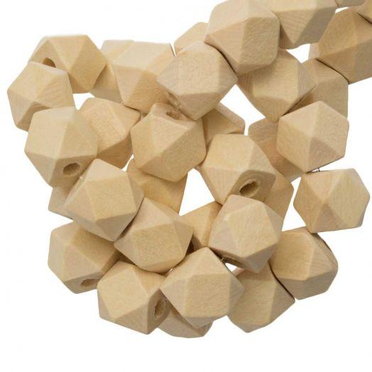 Blanke Houten Kralen Kubus (12 mm) 25 stuks