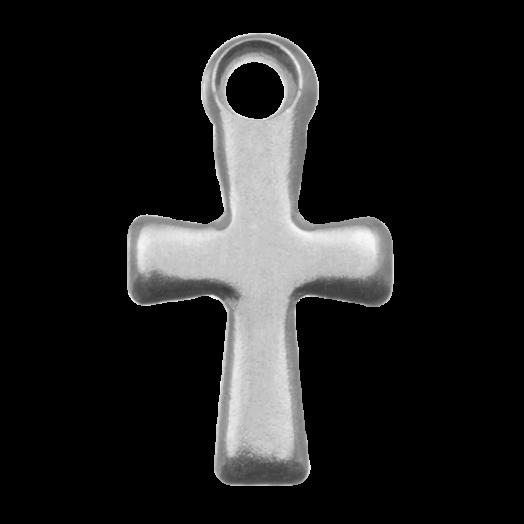 Stainless Steel Bedel Kruis (17 x 10 mm) Antiek Zilver (20 Stuks)